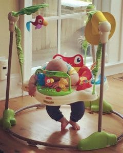 Baby napping in best baby gear Jumperoo