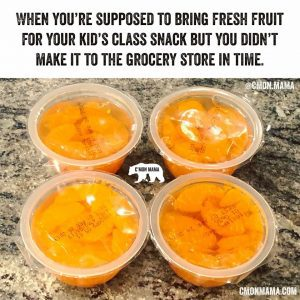 mom-shaming about fresh organic fruit vs mandarin orange packages