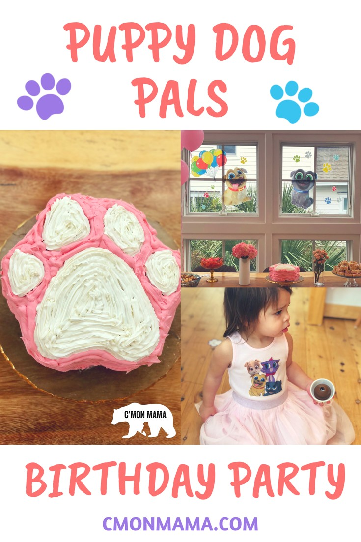 Everything you need to throw an adorable Puppy Dog Pals Birthday Party! Easy, cute & cheap...and a big hit with your Puppy Dog Pals obsessed kid! Paw print birthday cake, Puppy Dog Pals decorations & more Puppy Dog Pals Birthday Party cuteness!