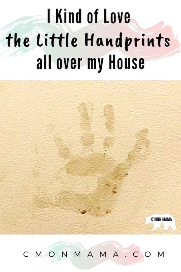 I Kind of Love the Child Handprints all over my House