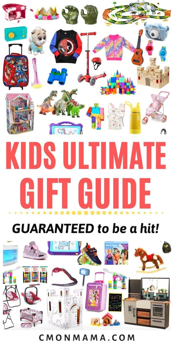 This Ultimate Kid\'s Gift Guide is full of our tried & true fave gifts for kids. A list of all the best gifts for kids & guaranteed to be a hit with your kid! I\'ve done ALL the research so you don\'t have to.
