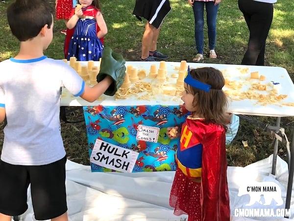 Superhero Birthday Party games hulk smash game