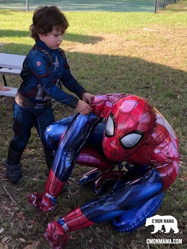Superhero Birthday Party balloon