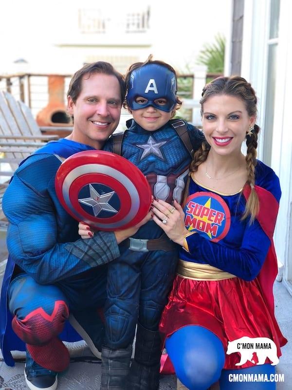 Superhero Birthday Party supermom costume