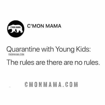 quarantine with kids meme