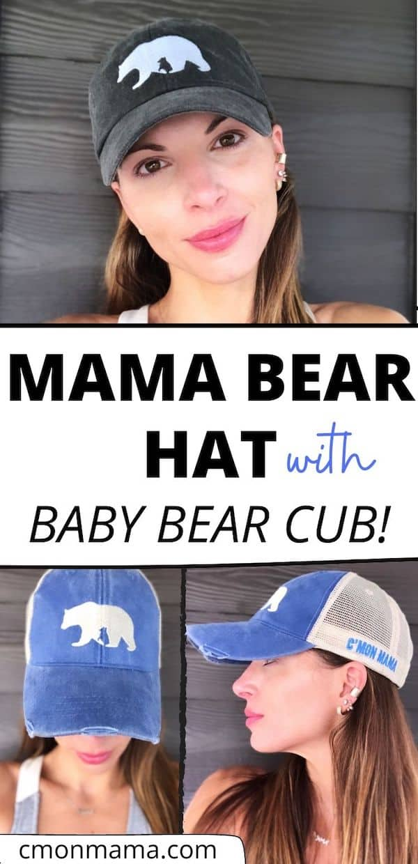The ONLY Mama Bear Hat WITH a Baby Bear on it, too! Available in 2 styles—with that perfect vintage look & a killer fit. You\'ll never want to take it off.   #mamabear #mamabearhat #mamabearshirt #mamahat #momhat #mamabearstyle #momlifestyle #momlifehat #momlife