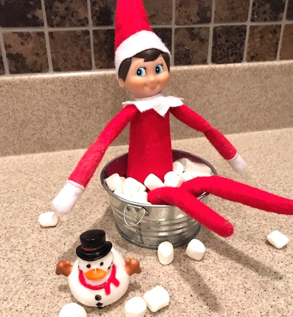 elf on the shelf idea bathtub