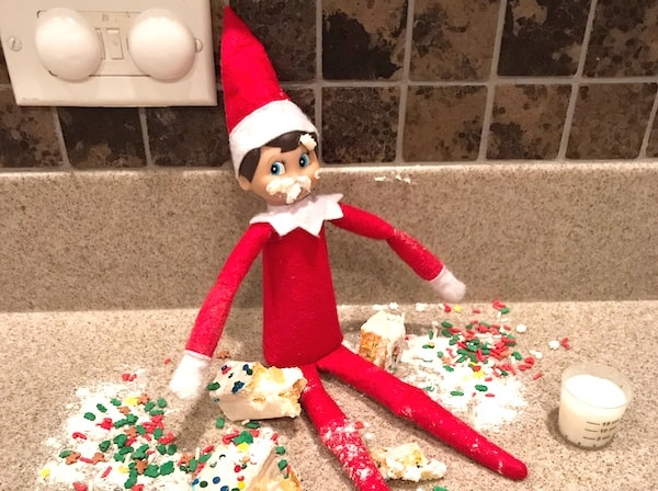 elf on the shelf idea kitchen snack