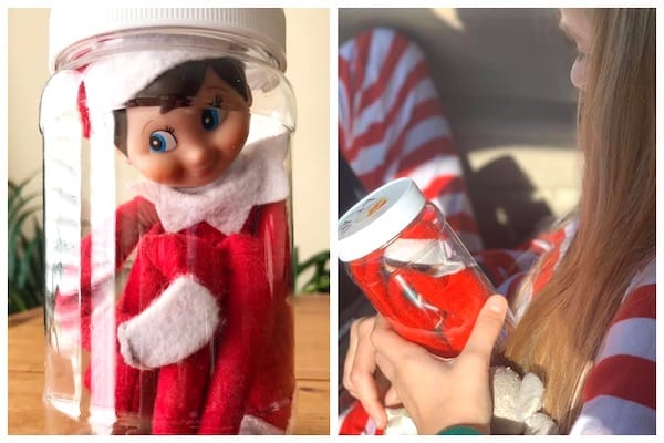 elf on the shelf idea travel