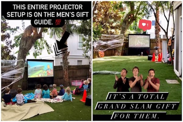 gift ideas for men outdoor projector
